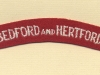 Bedfordshire & Hertfordshire Regiment (Embroid)
