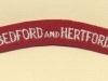 Bedfordshire & Hertfordshire Regiment (Embroid)