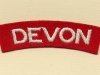 Devonshire Regiment (Embroid)
