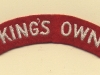 King's Own Royal Regiment (Lancaster)(Embroid)