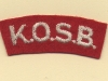 King's Own Scottish Borderers (Embroid)