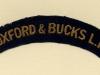 Oxfordshire & Buckinghamshire Light Infantry (Embroid)