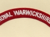 Royal Warwickshire Regiment (Embroid)