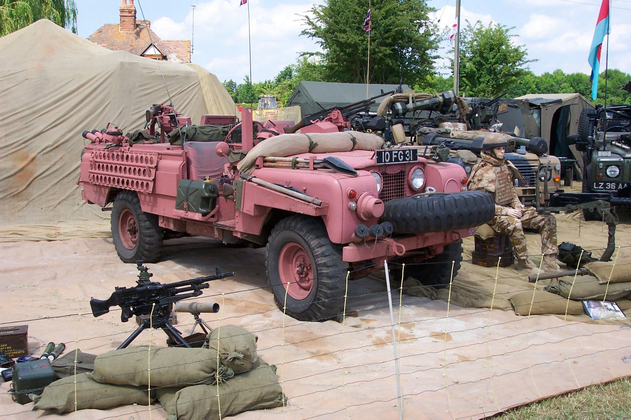 Long Range Desert Group Jeeps And Pink Panthers