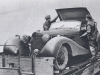 Goering's Car, Captured by British Troops, Being Loaded onto a Trailer Ready for Conveyance to REME Workshops