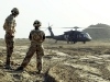 British Troops with US Army Blackhawk UH-60 Helicopter