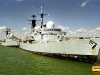 D87 HMS Newcastle (Type 42 Class Destroyer) Photographed in Farham Creek, Portsmouth 2007, with HMS Cardiff astern