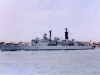 D89 HMS Exeter (Type 42 Class Destroyer) Photographed arriving into Portsmouth