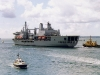 A387 RFA Fort Victoria (Replenishment Ship) Photographed leaving Portsmouth
