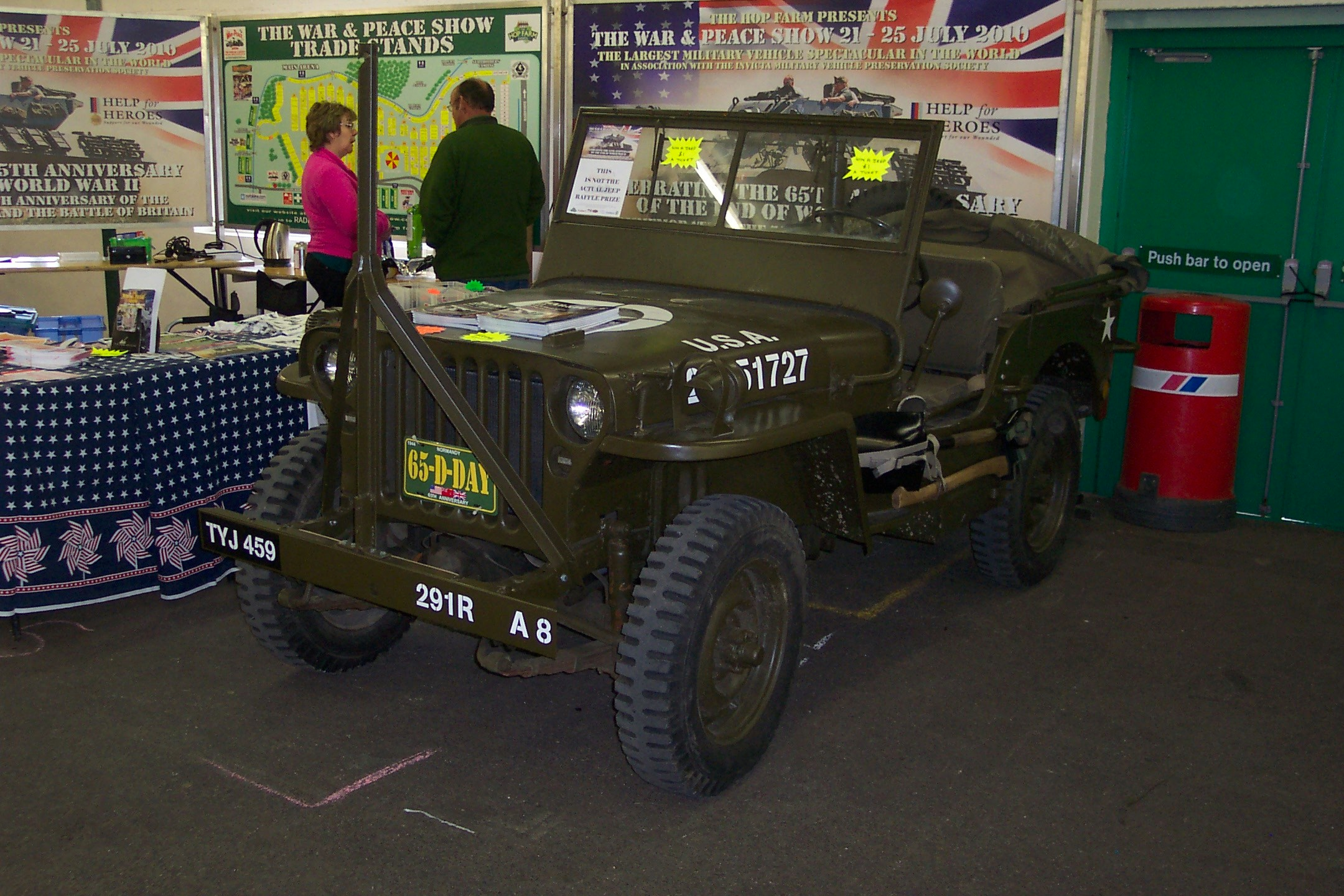 stafford willys mb jeep tyj 459 on the war and peace show stand. Cars Review. Best American Auto & Cars Review
