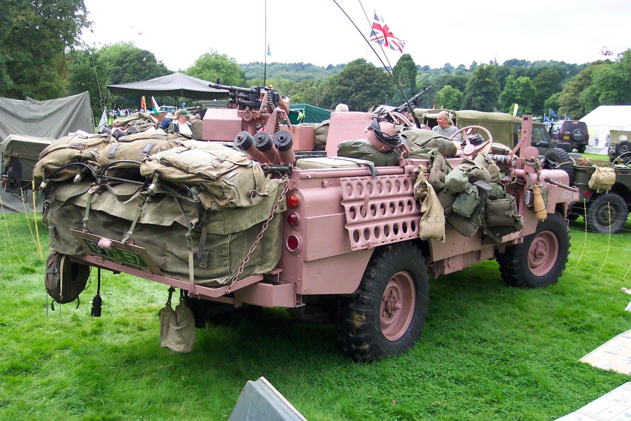england eastnor vehicle rover military land pink special forces for stock herefordshire sas show uk at sale photo panther landrover annual