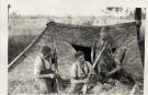 German Troops Relax with Tent