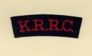 King\'s Royal Rifle Corps (Embroid)