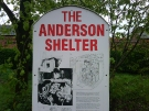 Staffordshire Regt Museum - Anderson Shelter Sign