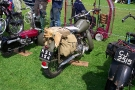 Royal Enfield RE125 125cc Motorcycle (KSL 154) Rear (Kington Vintage Show, August 2009)