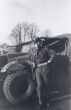 Norman Yeomans with Morris C4 15cwt GS, Germany 1946
