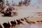 M5 Stuart crossing a bridge