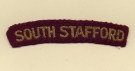 South Staffordshire Regiment (Embroid)