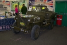 Ex-Mil Show, Stafford - Willys MB Jeep (TYJ 459) on the War and Peace Show Stand