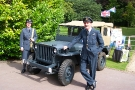 Wolverhampton Bantock House 1940\'s Show, Sept 2010 - Ford GPW Jeep (268 XUY) with it\'s RAF Crew