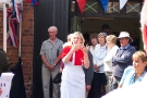 Wolverhampton Bantock House 1940\'s Show, Sept 2010 - Nurse with Sign Language