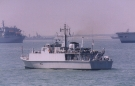 M110 HMS Ramsey (Sandown Class Minehunter) Photographed off Portsmouth, June 2005