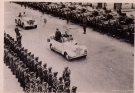 Tunisia Victory Parade - Monty\'s Humber & a captured German Horch 15 Staff Car