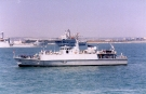M102 HMS Grimsby (Sandown Class Minehunter) Photographed off Portsmouth