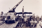 Thornycroft Amazon WF SWB Coles Mk7 Crane with twin -engined Aircraft