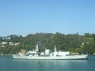 F81 HMS Sutherland (Type 23 Duke Class Frigate) in Dartmouth, 2007 (Copyright Cavalry)