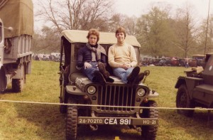 Authors Ford GPW Jeep and 2 Mates at Himley Park Show 1977