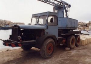 Thornycroft Amazon WF swb Cole Mk7 Crane (S-8563)(Malta Marsascala)
