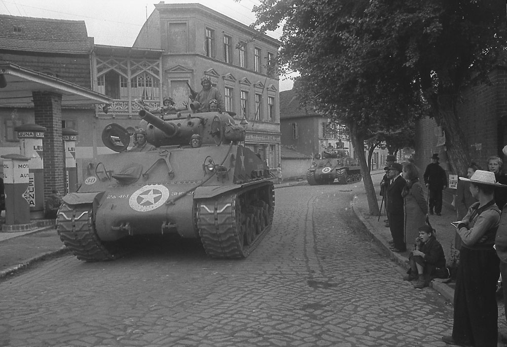 Berlin May-June 1945 (195) US 2nd Armored Shermans