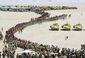 British Troops Line-Up Pre Gulf War 2