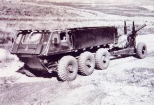 Alvis Stalwart Amphibious Truck Prototype Towing 5.5 inch Gun