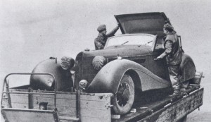 Goerings Car Captured By British Troops