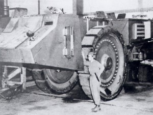 US Sergeant With German Super Tank