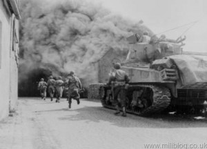 M4 Sherman Advancing with Infantry