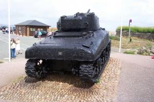 Sherman DD Tank Rear View