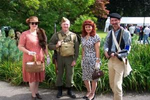 A group of 1940s Re-enactors