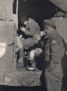 Troops with Cooker in a Mystery Vehicle