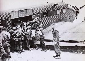 Junkers JU52 Unloading Supplies in Crete in 1941